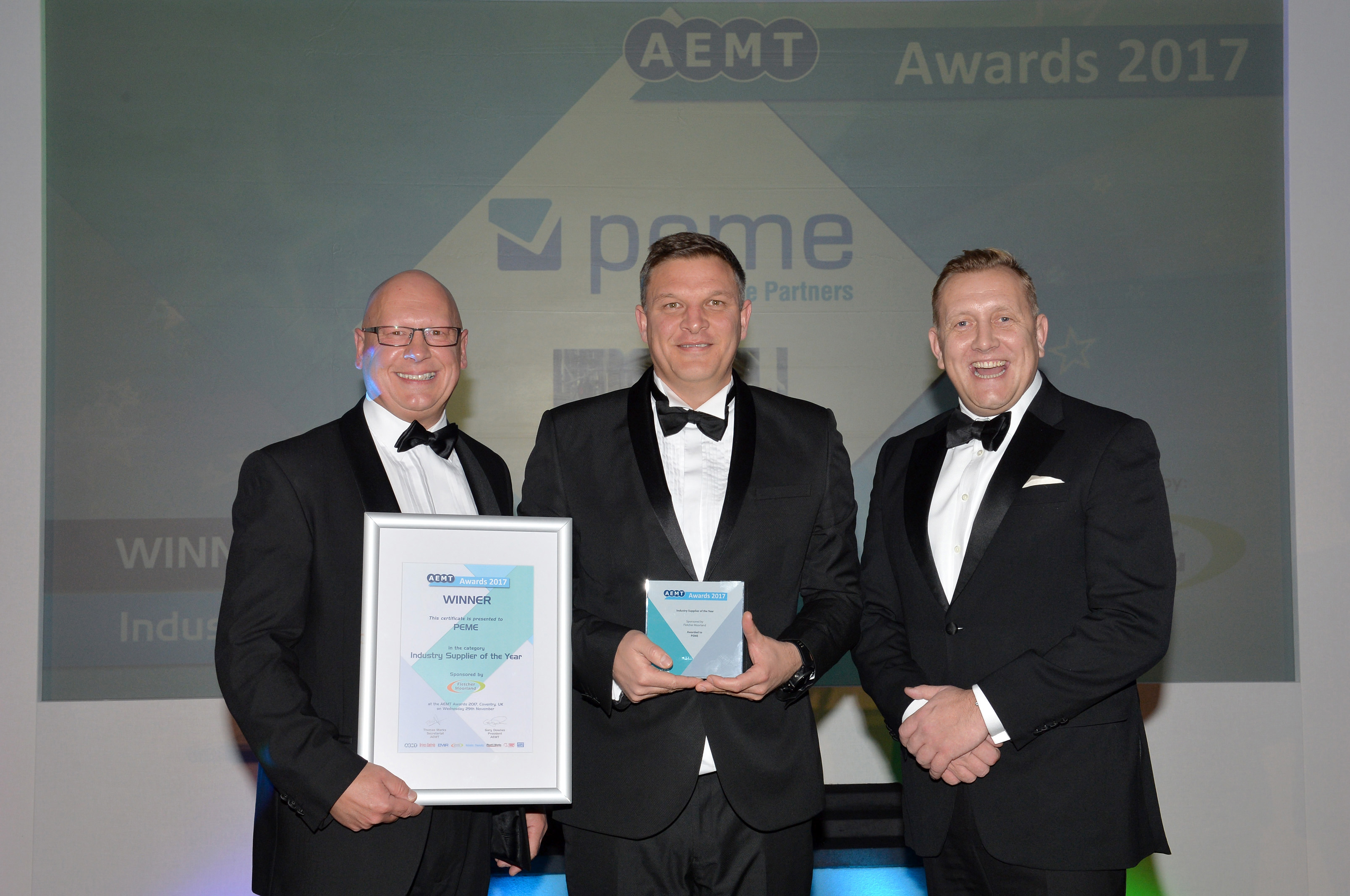AEMT Awards 2017 at the Doubletree Hilton, Coventry.29.11.17